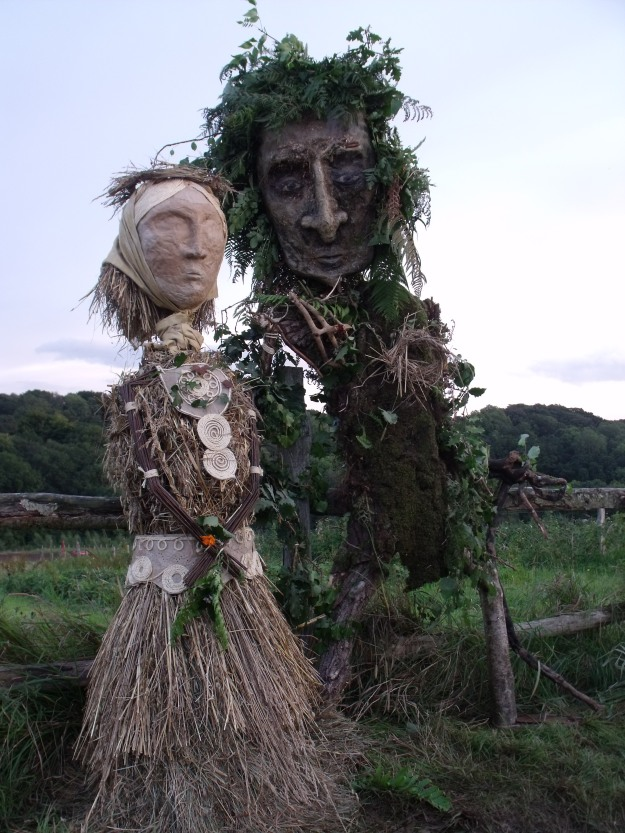 green man and corn dolly
