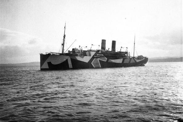 'Dazzle Camouflage' WW1 boat